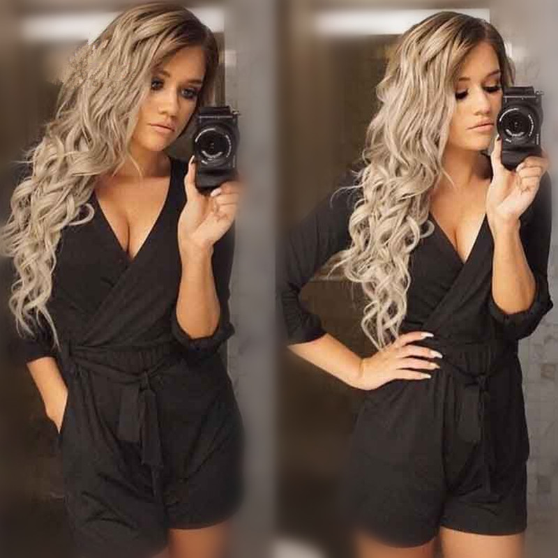 Black Grey Ombre Wavy Synthetic Lace Front Wig Glueless Two Tone Heat Resistant Hair Wigs Cosplay <br><br>Aliexpress