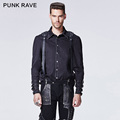 Punk Rave Single Breasted Camisa Shirt With Vertebra Printing Turn down Collar Y 607