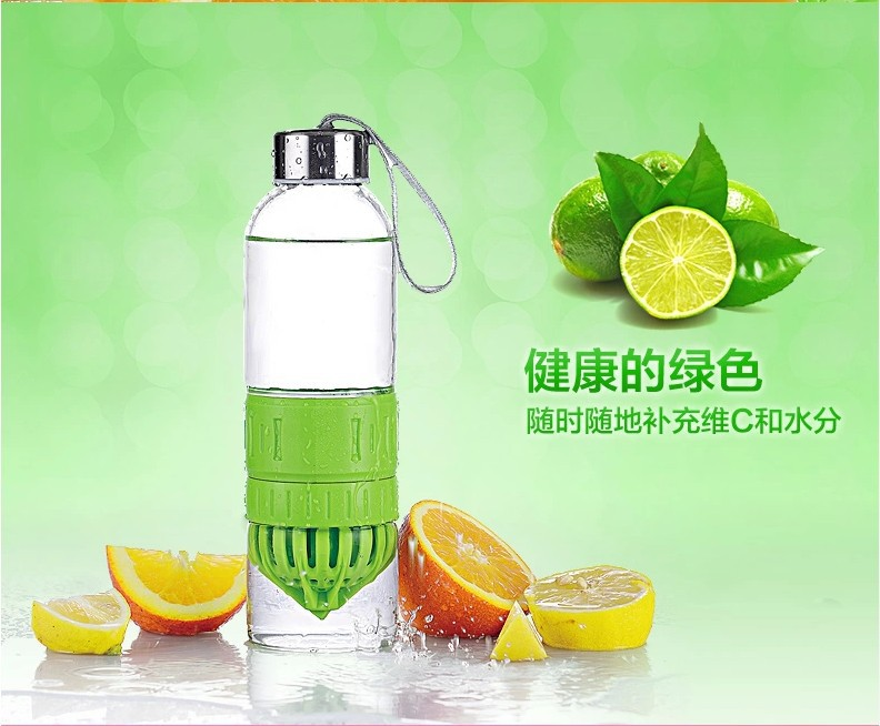 500ml transparent glass water cup and sports nutrition water bottle, 2014 new design just love glass cup free shipping(China (Mainland))