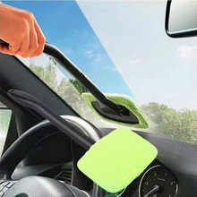 Buy Microfiber Auto Window Car Cleaning Long Handle Car Wash Brush Dust Car Care Windshield Shine Towel Handy Washable Car Cleaner for $2.53 in AliExpress store