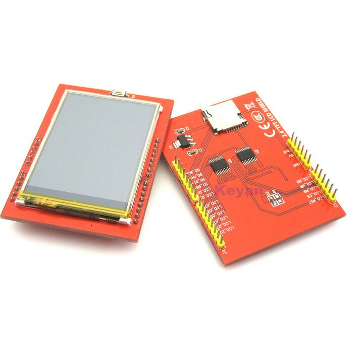Free shipping! LCD module TFT 2.4 inch TFT LCD screen for UNO R3 Board and support mega 2560(China (Mainland))