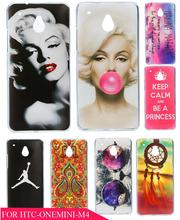 Beauty Painting Marilyn Monroe Lips Protective Phone Hard Plastic Hard Plastic Phone Case Cover for HTC One Mini M4 601E