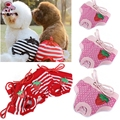 Female Pet Dog Strawberry Striped Underwear Puppy Cat Diaper Sanitary Pants Physiological Pants Dog Diaper Dog