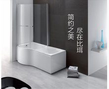 2016 hot selling beerwell bathtub 1.7m acrylic material dual side skirt include drain free shipping soaking shower(China (Mainland))