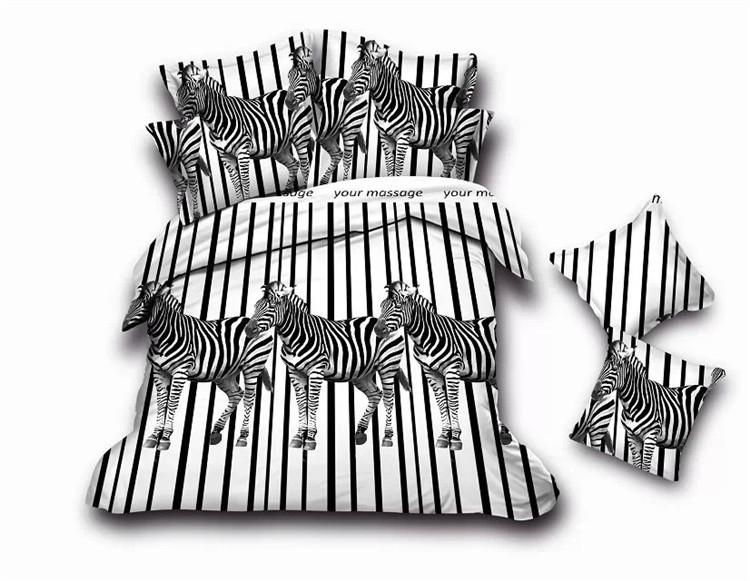 Home Textiles Animal Tiger 3d Bedding Set 4pcs Queen Quilt