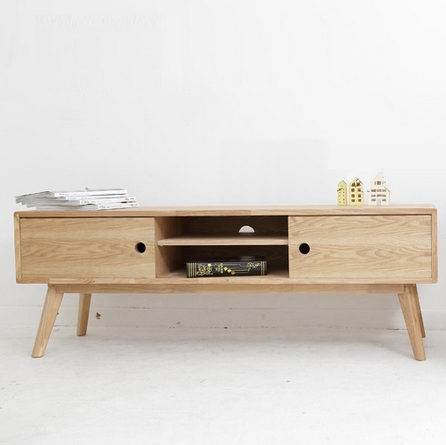 mobilier scandinave dodge pur japonais ash basse en bois. Black Bedroom Furniture Sets. Home Design Ideas