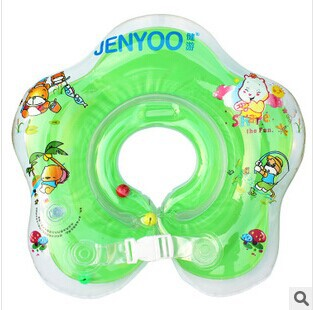 Newest Green / Blue/Green/Red  PVC Baby Aids Infant Swimming Neck Float Ring Swimming Circle Safety(China (Mainland))