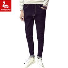 KOTENKO Brand 2016 New Mens Fashion Jeans Casual Denim Pants Men Straight Trousers Large Size Full Length Pants Slim Fit Leisure(China (Mainland))