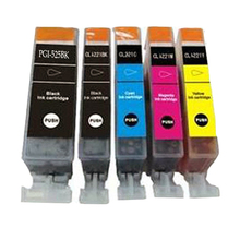 5 Canon PGI-525 CLI-526 INK CARTRIDGES COMPATIBLE Pixma MG5350 MG5250 MG6250 MG5150 MG8250 MG5200 MX882 MX885