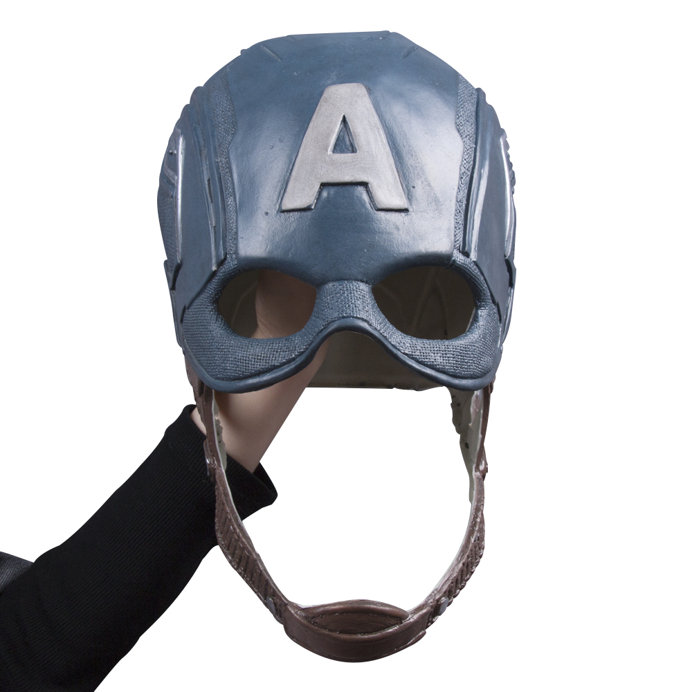 Captain America Civil War Helmet Mask Latex Cosplay Steven Rogers Halloween Helmet For Collection Party (5)