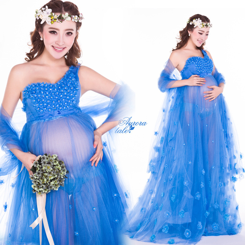 dresses fancy maternity photo props baby shower gift pregnancy
