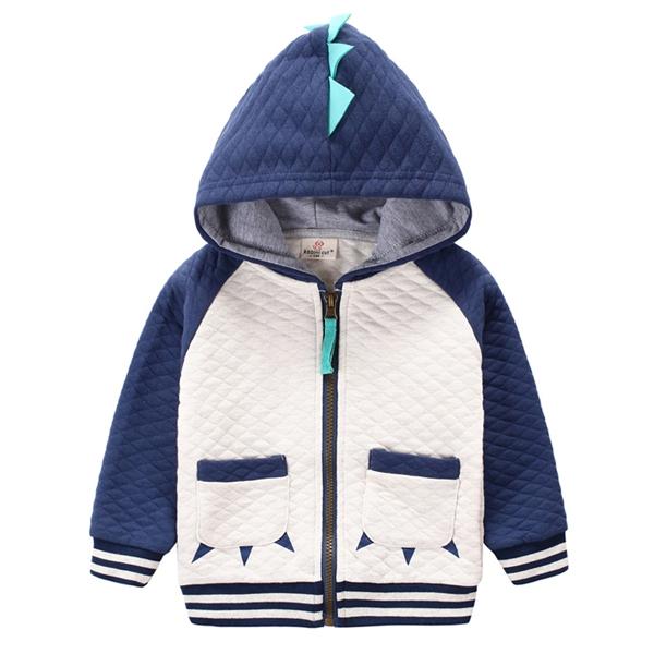2016 children's clothing boys girls Dinosaur Hoodie cotton cartoon Winter kids coats Jacket boys hoodies and sweatshirts(China (Mainland))