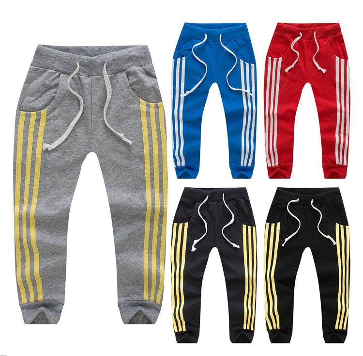 Free shipping 2014 Classic Sport Spring and autumn child sports pants male female child casual pants(China (Mainland))