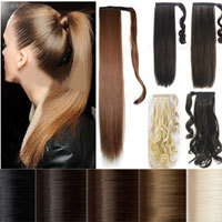 Cheap Price Real Quality 66CM 3 Bundle/Lot Hair Extensions Extenstions Straight Synthetic human favor as remy style hairpieces
