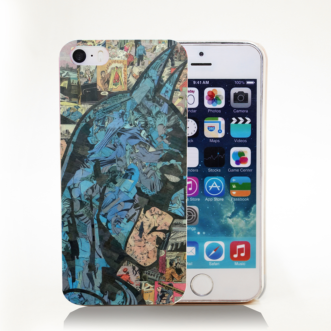 Retro Vintage Batman Comic Book Hard Transparent Cover font b Case b font for iPhone 4