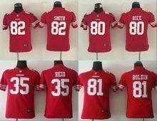 All stitched Youth San Francisco Kids children #35 Eric Reid #80 Jerry RICE #82 Torrey Smith 81 Anquan Boldin camouflage(China (Mainland))