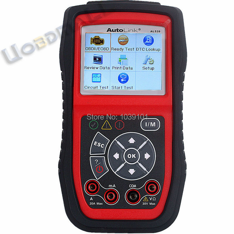 Original Autel AutoLink OBD2 Code Reader AL539 OBDII/CAN SCAN TOOL Autel AL539 Scanner Internet Update DHL Free Shipping(China (Mainland))