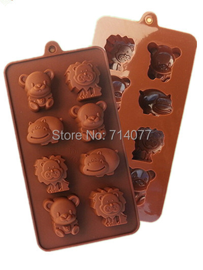 Гаджет  1PCS Silicone Chocolate Mold With Food Grade Silicone, Animal Shape For Fondant Cake Tool, L021 None Дом и Сад