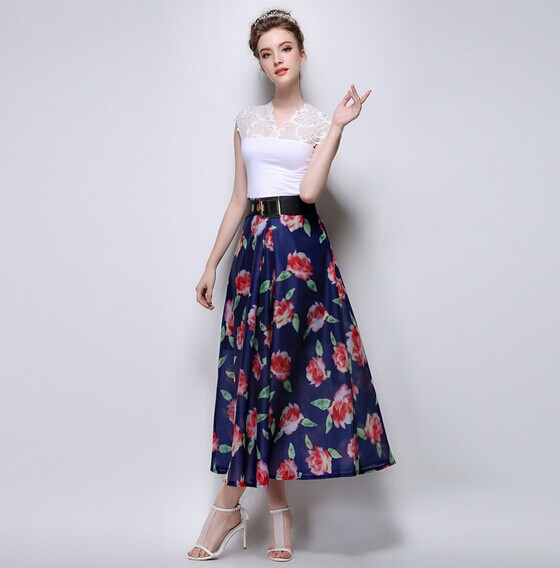 Skirt long floral – The most popular models skirts