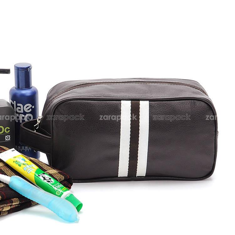 Wholesale Elegant Black Small plaid Toiletry Bag Travel Organizer Cosmetic  Bag for men women handbag Free shipping. Discount Wholesale Elegant Black Small Plaid Toiletry Bag Travel
