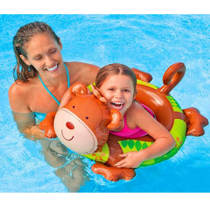 Baby Safety Cute Animal Inflatable Swimming Pool Ring Kid Float Portable Swim Trainer Accessories Swim Summer Water Sport Ring(China (Mainland))