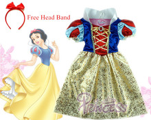 2016 Children Snow white Dress for Carnival party dress girls costume vestidos infantil de fiesta Blancanieve disfraz princesa