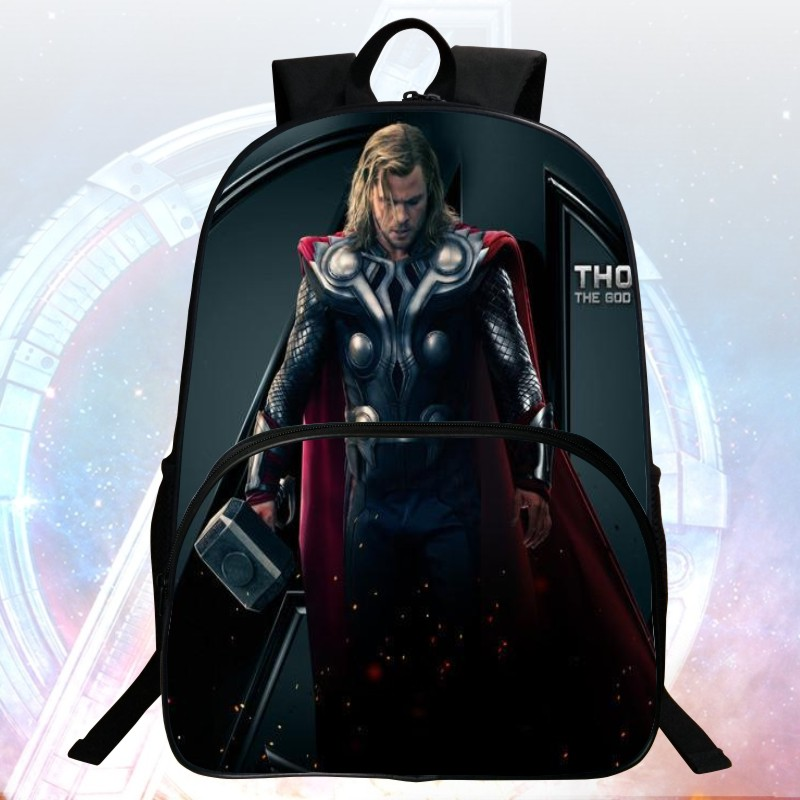 2016 New Style 16-inch Printing Hero Thor Avengers Children Backpacks kids School Bags Students Mochila Bag Boys School Backpack