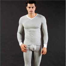 Buy WJ Brand Men V Neck Clothing Long Johns Suit Modal Mens Winter Warm Thermal Underpants Man Sleepwear Long Johns Underwear Sets for $24.99 in AliExpress store