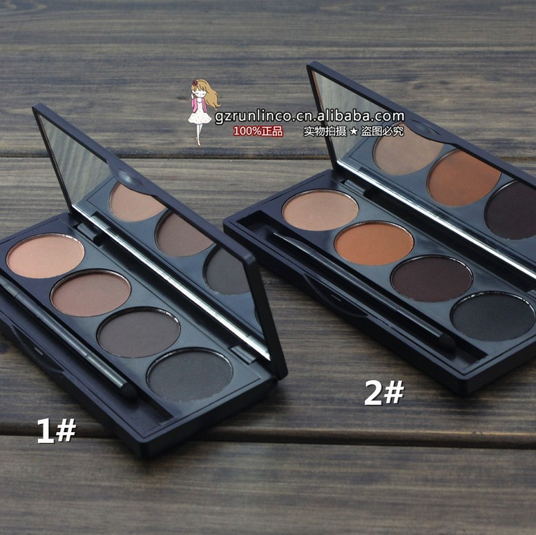 Гаджет  2015 makeup Professional 4 color EYEBROW Powder/Shadow Palette With Double Ended Brush Drop Shipping None Красота и здоровье