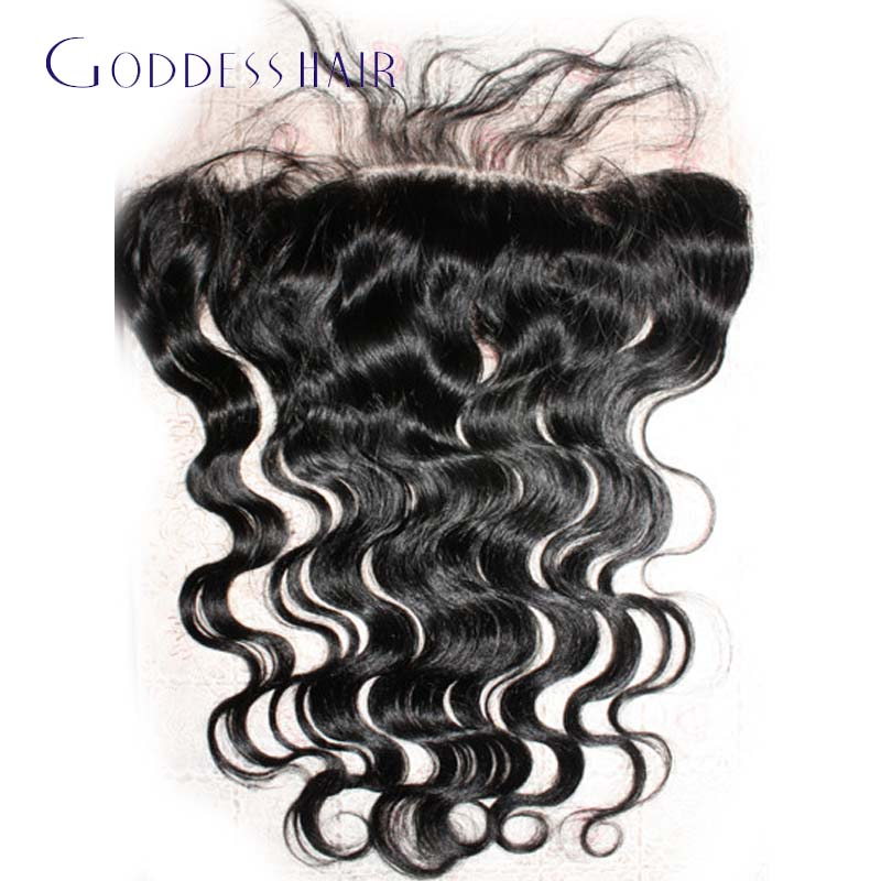 full frontal lace closure 13x4 jet black ear to ear lace frontal closure with bleached knots,2016 new arrival 1# hair frontals