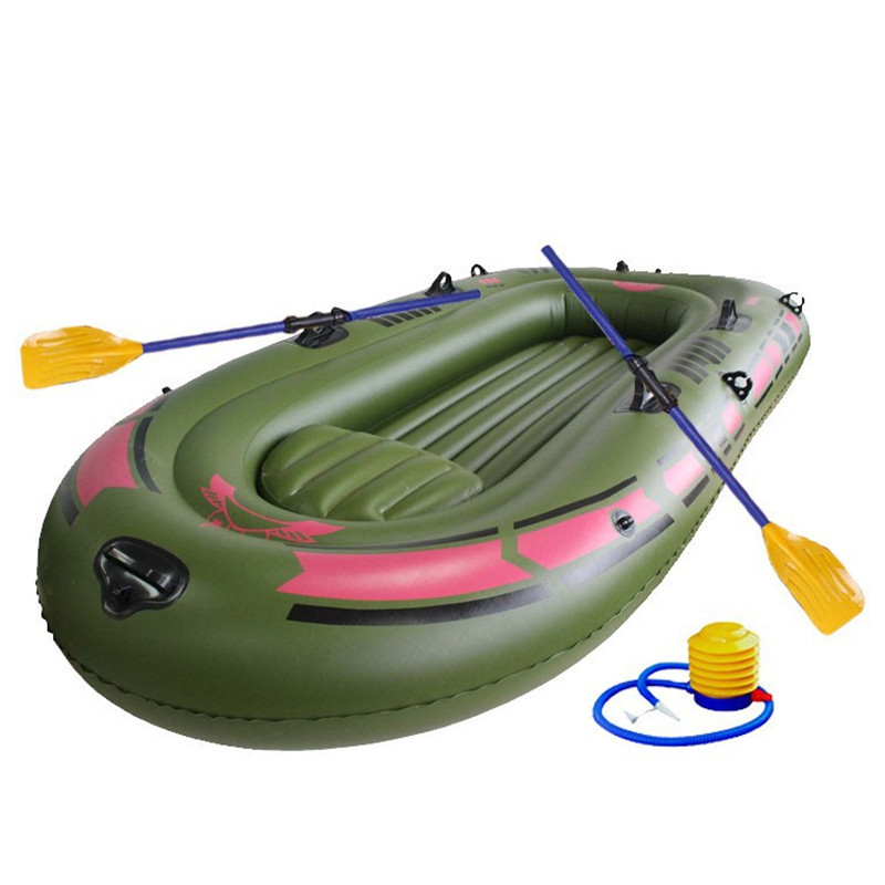 High Quality Inflatable Fishing Boat 1 2 3 Person Thick PVC Rubber Fishing Boats with Patching Kit for Lake Pond Boat Fishing(China (Mainland))