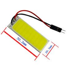 10pcs 36SMD Car COB LED panel T10 COB chip Festoon dome t10 Adapter panels Interior reading light 12V ERROR FREE(China (Mainland))