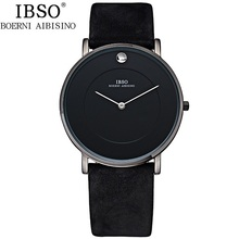 Watches Men Luxury Top Brand IBSO New Fashion Men's Genuine Leather 3ATM Designer Quartz Watch Male Wristwatch relogio masculino