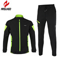ARSUXEO 2 Color Thermal Cycling Jacket Winter Warm Up Bicycle Sets Clothing Windproof Waterproof Soft Shell