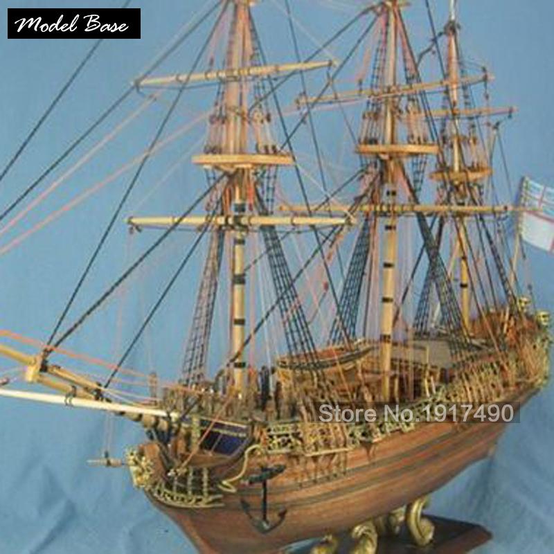 Ship Model Kit For Adult Scale 1:50 Wooden Model Ships Diy Educational Games Kids Models Boats Wood 3d Laser Cut Caroline(China (Mainland))