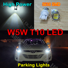 Free Shipping 2pcs Extreme Bright High Power Xenon White 168 194 2825 LED Lamp Bulbs Car Parking Lights Position Light
