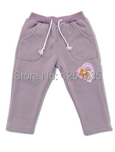 Hot Spring and autumn boys and girls warm trousers leisure pants fleece thickened infant autumn and winter pants free shipping(China (Mainland))