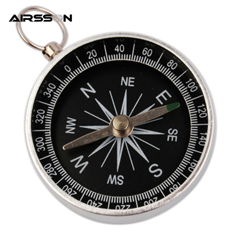 Outdoor Hunting Multifunctional Practical Ridding Silver Airsoft Military Mini Portable Pointer Pocket Compass Handheld Type(China (Mainland))