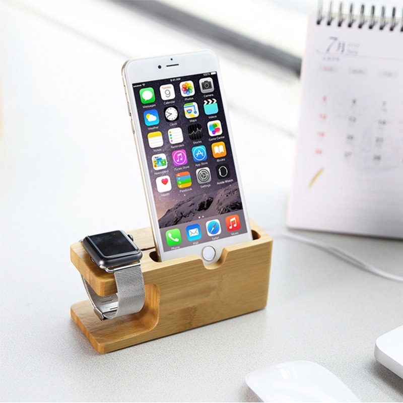 Vintage Wooden Holder Stand For Apple iWatch Watch Fashion Wood Bamboo Charging Dock Holder Keeper For iPhone 6 6s Plus 5s 4s<br><br>Aliexpress