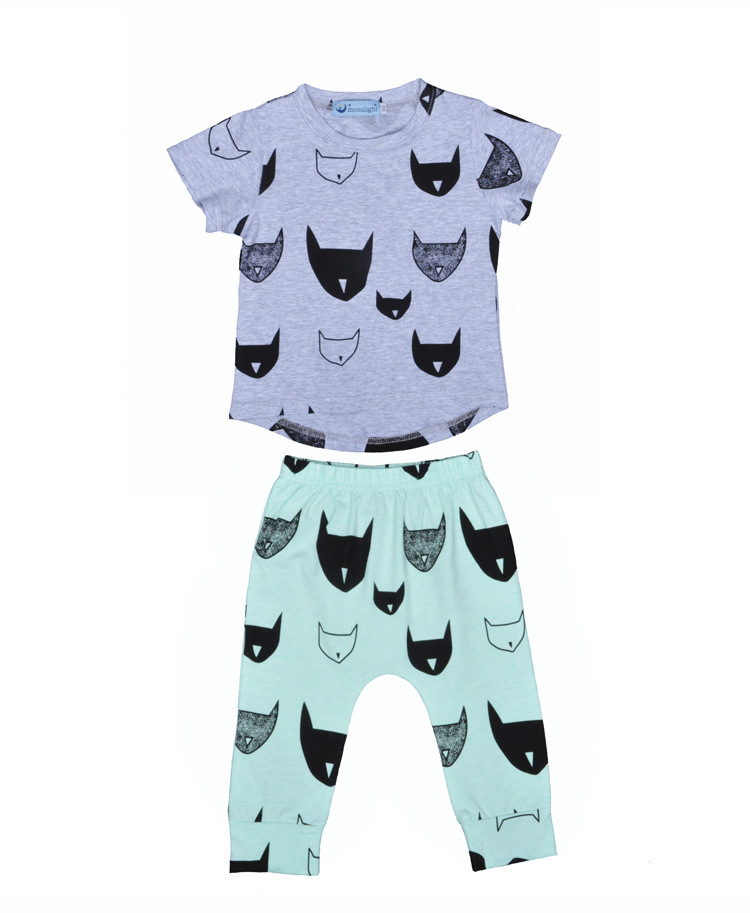 New items Baby Girls Boys Summer clothes casual suit children clothing set short sleeve shirt pant leggings sport sets(China (Mainland))