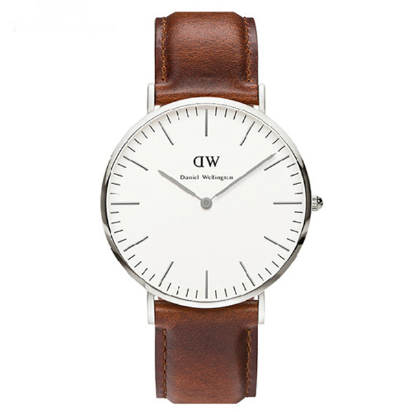 Hot Sale Daniel Wellington Watch Women Fashion Leather Strap Dress Wristwatch Brand DW Casual Quartz stainless steel back Watch(China (Mainland))