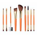 New PRO Orange 9pcs Makeup Brushes Set Eyeshadow Foundation Blending Brush Cosmetic Make Up Tools Kit