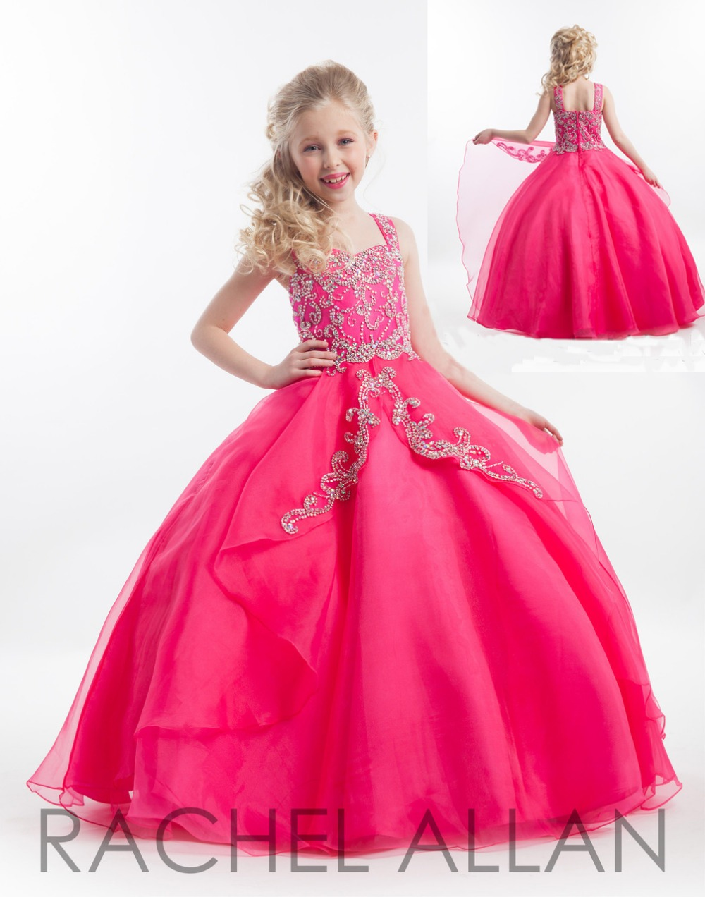 2016 Summer Kids Bridesmaid Dress Children Dresses Evening Birthday Party Gowns Flower Girls Dress Princess Pageant Dresses(China (Mainland))