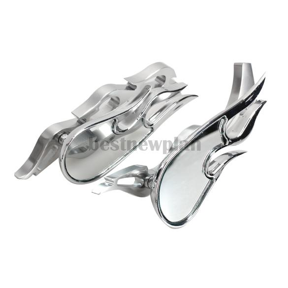Flame Shape Motorcycle Rearview Mirror Modified Replacement Parts Universal