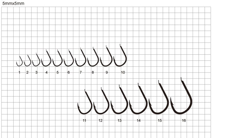 500Pcs 10 Sizes 3-12# 1-2.5CM Fish Fishing Sharpened Hooks With Box 2016 Hot Sale<br><br>Aliexpress