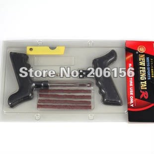 Safety Car Auto Tubeless Tire Tyre Puncture Radial Plug Repair Cement Tool Kits Tubeless Motorcycle Puncture(China (Mainland))