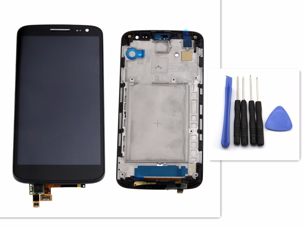 OEM LCD Screen For LG G2 mini D620 D618 With Touch display Digitizer Assembly replacement with frame black