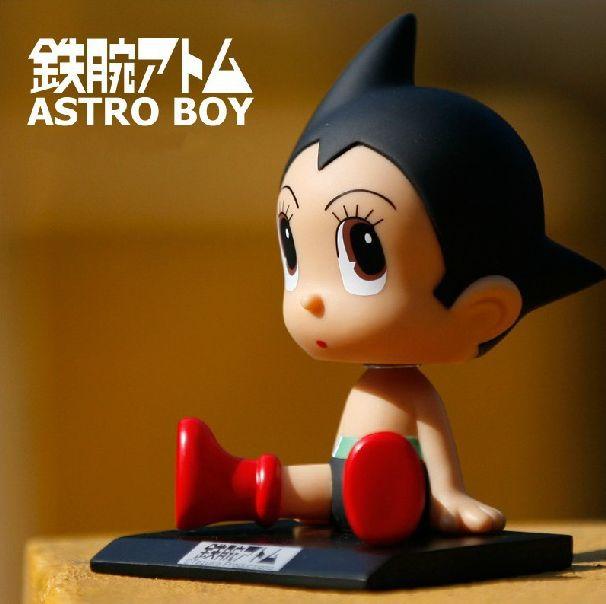 10cm Shaking Head Astro Boy Toy Model Car Decoration Anime