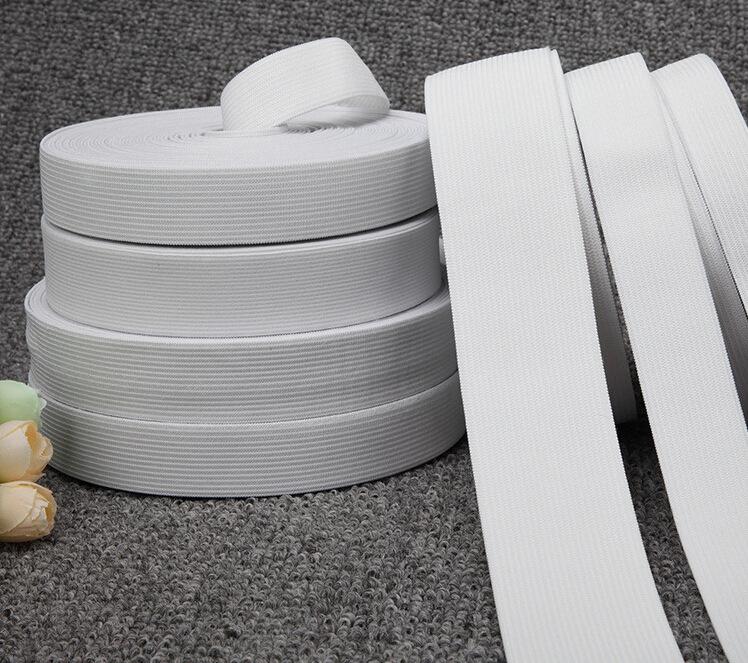 12 MTRคุณภาพสีดำสีขาวแบนที่แข็งแกร่งทอยืดหยุ่นเทปฝีมือรอบและมีสายจักรเย็บผ้าจัดส่งฟรี(China (Mainland))