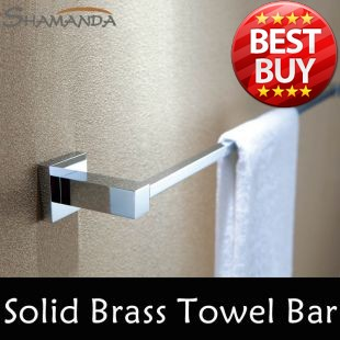 Free Shipping (60cm)Single Towel Bar Towel Holder Solid Brass Made Chrome Finished Bathroom Products Bathroom Accessories-94008(China (Mainland))